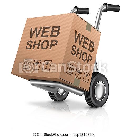 tienda, tela - csp9310360