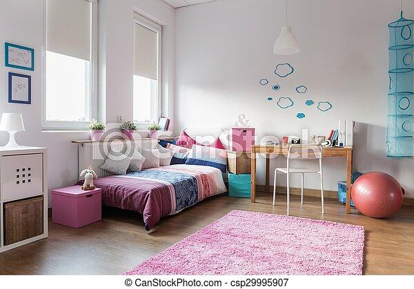 Tiener meisje slaapkamer tiener studeren slaapkamer meisje