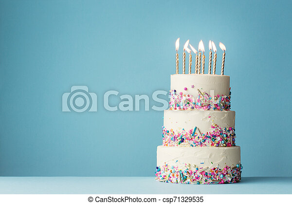 Excellent Tiered Birthday Cake With Sprinkles Birthday Cake With Three Funny Birthday Cards Online Fluifree Goldxyz