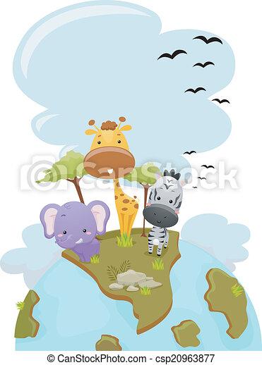 Animales safari tierra - csp20963877