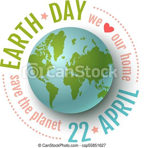 Día de la Tierra 22 de abril. - csp55851627