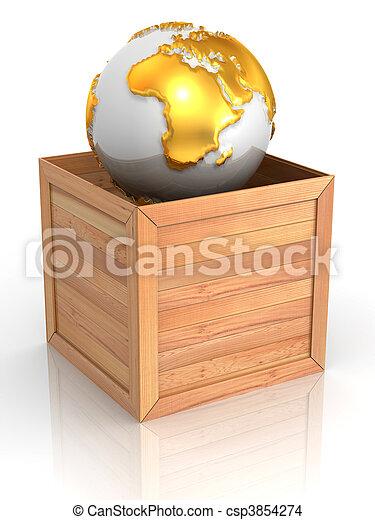 Tierra en caja - csp3854274