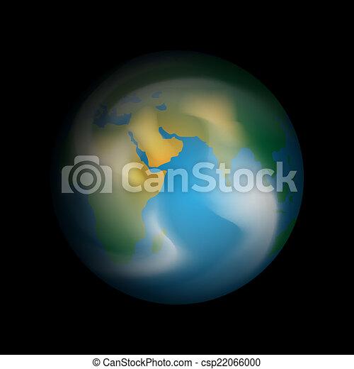 tierra de planeta - csp22066000