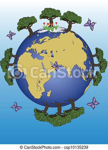 Tierra De Planeta Continentes