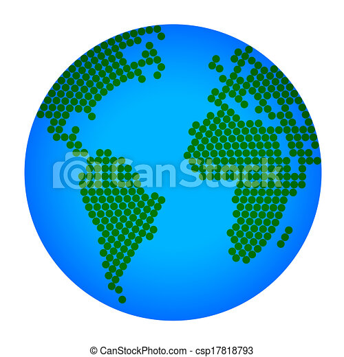 tierra de planeta - csp17818793