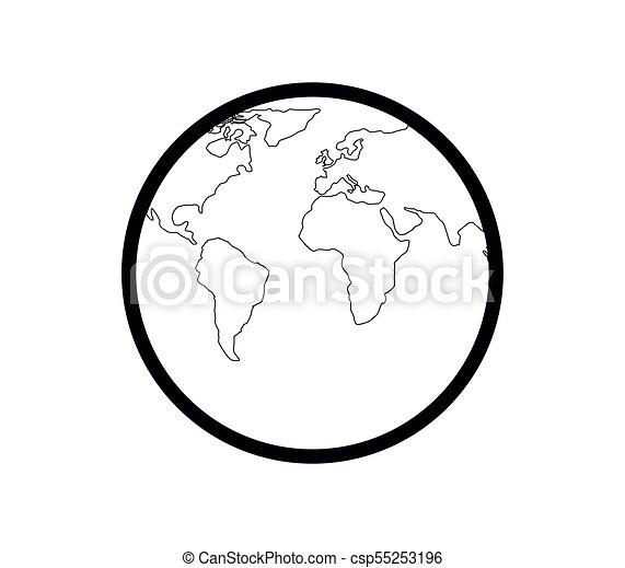 tierra de planeta - csp55253196