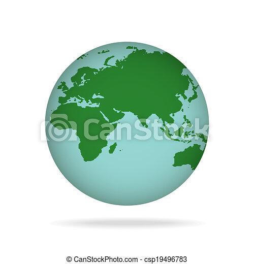 tierra de planeta - csp19496783