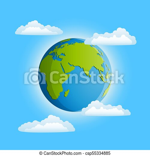 tierra de planeta - csp55334885