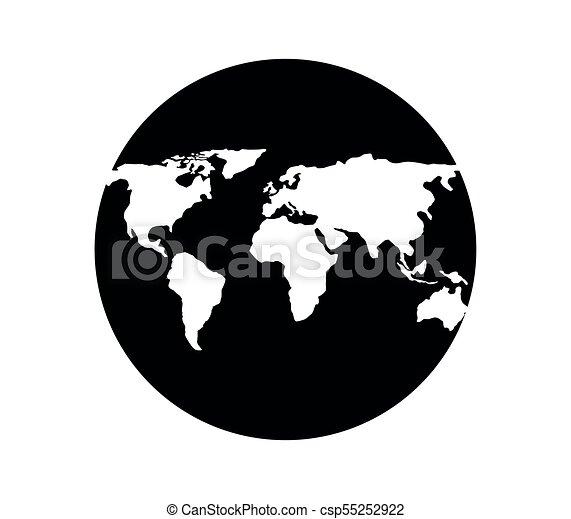 tierra de planeta - csp55252922