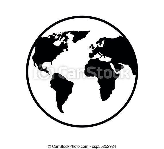 tierra de planeta - csp55252924
