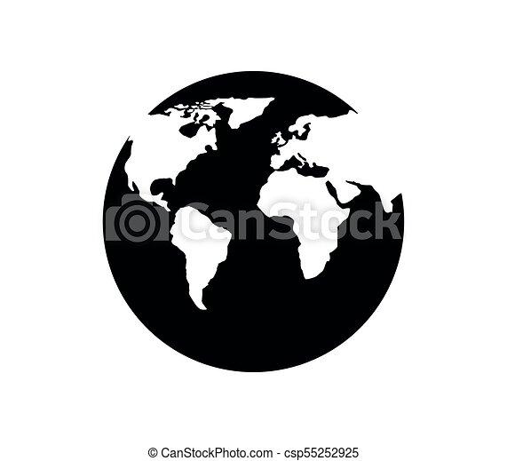 tierra de planeta - csp55252925