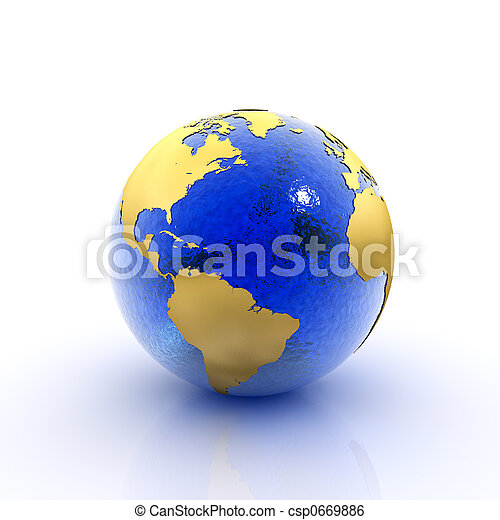 tierra de planeta - csp0669886