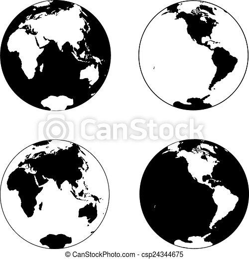 tierra de planeta - csp24344675