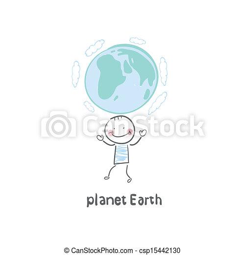 tierra de planeta - csp15442130