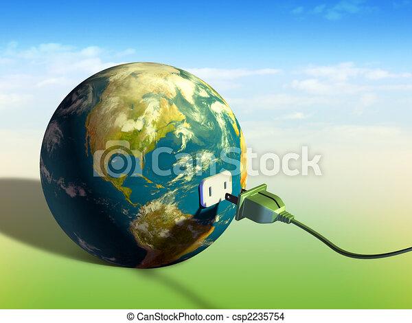 tierra, energía - csp2235754