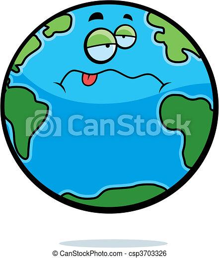 tierra, enfermo - csp3703326