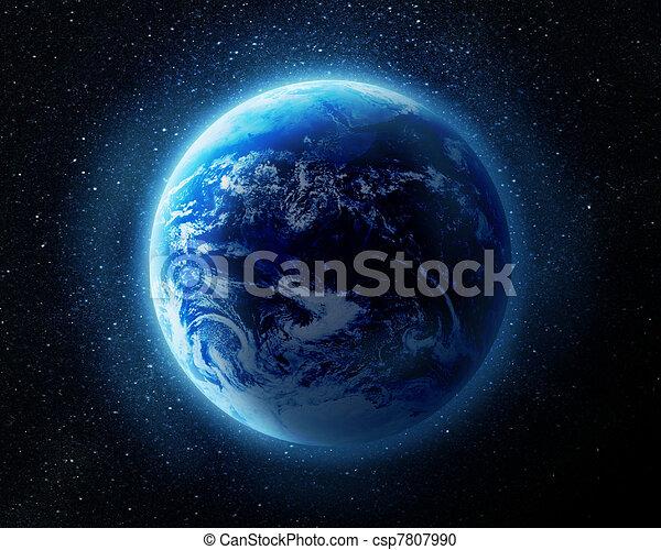 Tierra en el espacio - csp7807990