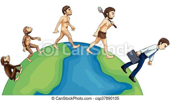 Evolución humana en la tierra - csp37890105