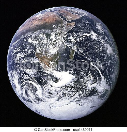 tierra, exterior, space. - csp1489911