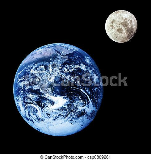 tierra, luna - csp0809261