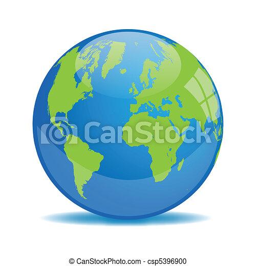 Ilustración de orbe terrestre - csp5396900