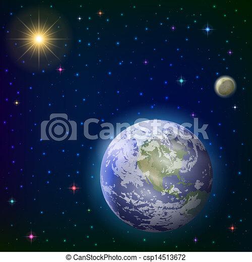 Tierra, luna y sol - csp14513672