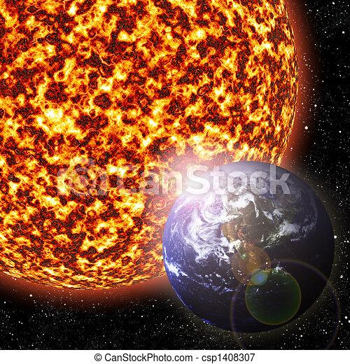 Tierra y sol - csp1408307