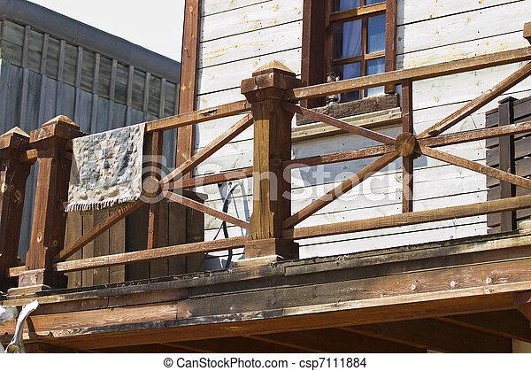 Balcon salvaje oeste - csp7111884