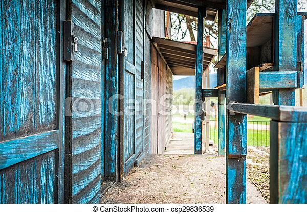 Edificios de madera del salvaje oeste - csp29836539