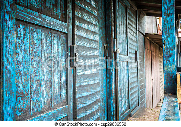 Edificios de madera del salvaje oeste - csp29836552