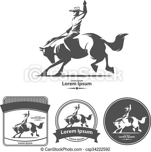 Rodeo salvaje oeste - csp34222592