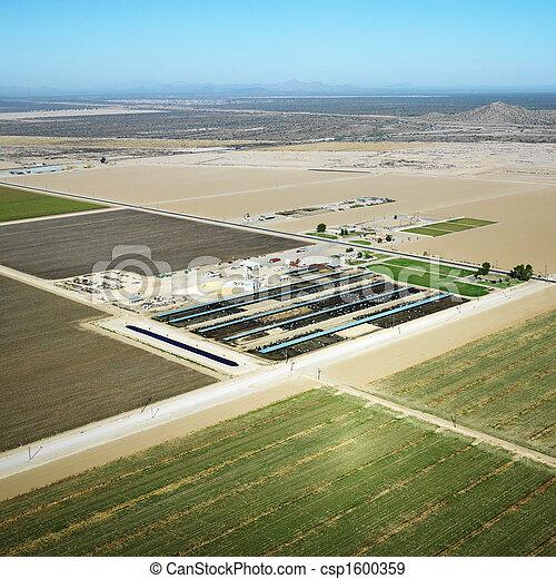 Aerial Farmland. - csp1600359