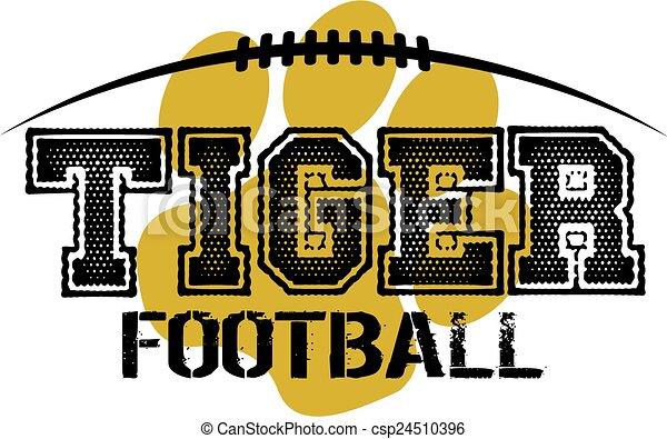 tiger, フットボール - csp24510396
