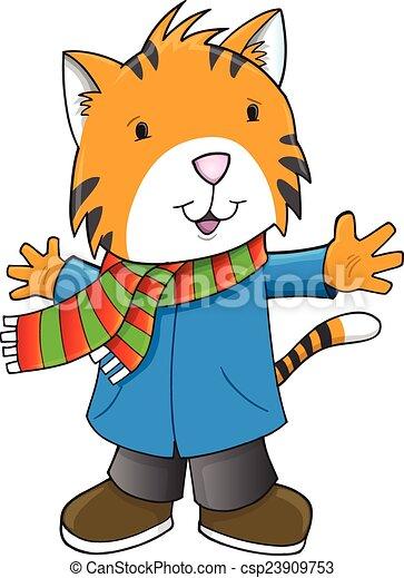 tiger, 休日, 芸術, クリスマス, 冬 - csp23909753