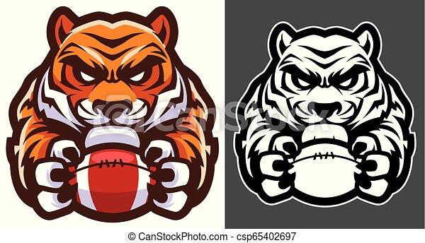 Tiger American Football Mascot - csp65402697