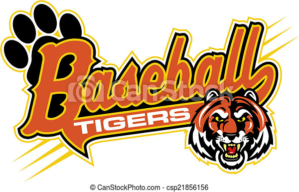 Cartoon Baseball Tiger - Vector Clipart Tiger