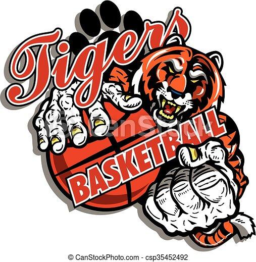 tiger basketball - csp35452492