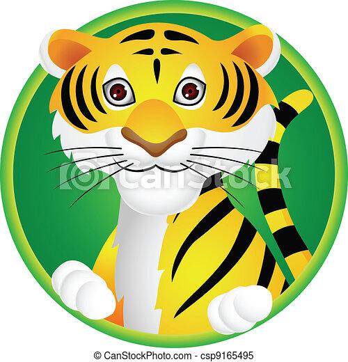 Tiger cartoon  - csp9165495