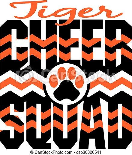 tiger, cheer, squad - csp30820541