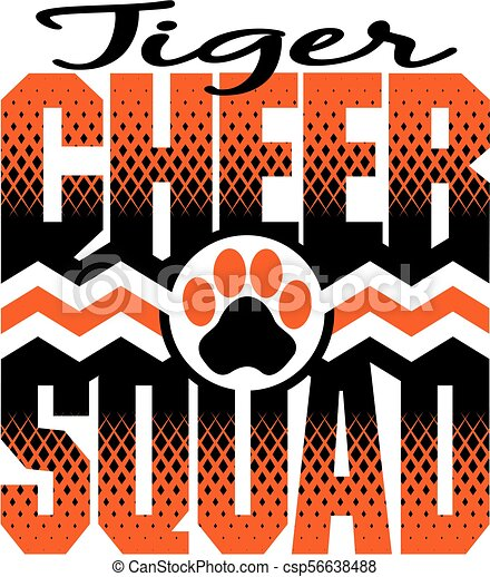 tiger, cheer, squad - csp56638488