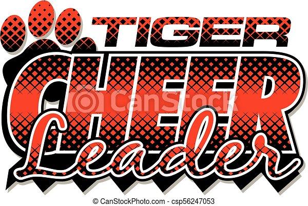 tiger, cheerleader - csp56247053