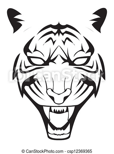 tiger face clip art vector search drawings and graphics images rh canstockphoto com angry tiger face clipart tiger face clipart easy