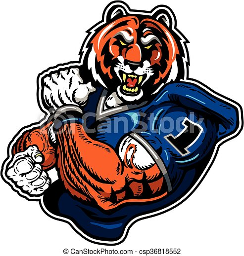 tiger football - csp36818552