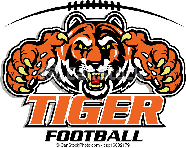 tiger football design - csp16632179