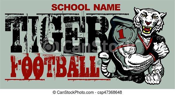 tiger football - csp47368648