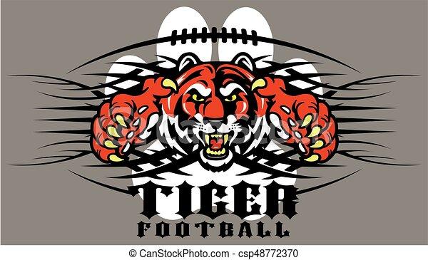 tiger football - csp48772370