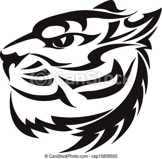 Tiger Head Design Vintage Engraving Tiger Head Tattoo Design