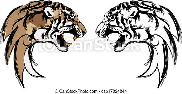 tiger head - csp17024844