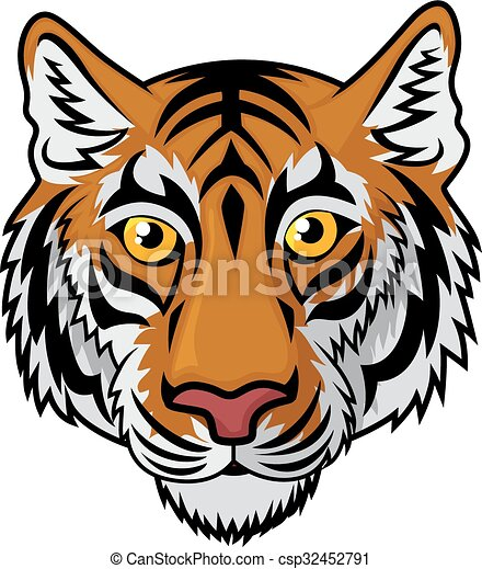 vector illustration of tiger head mascot team sport cartoon rh canstockphoto com cartoon tiger head drawing Fancy Tiger Head Cartoon
