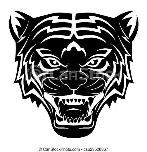 Tiger Head Tattoo - csp23528367